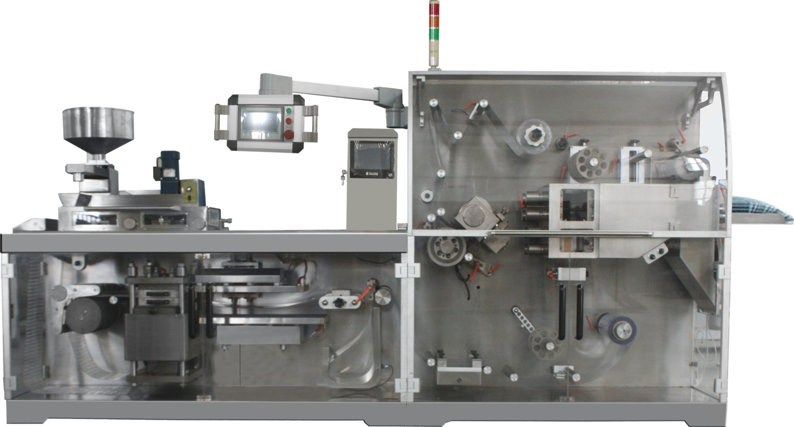 DPB-250D Capsules Pills Hardware Automatic Flat Plate PVC Blister Packaging Machine With CE